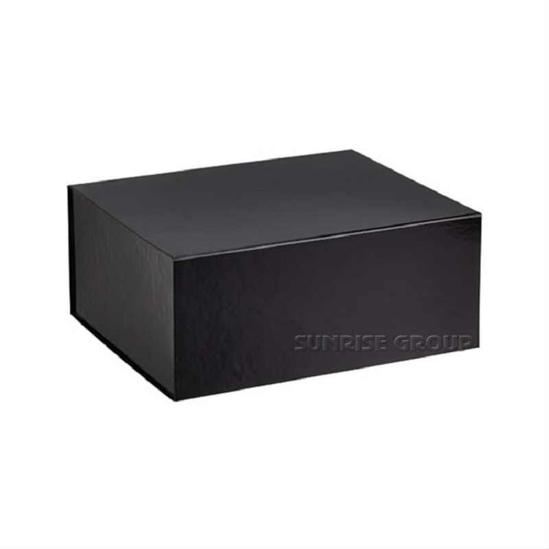Black Printing Paper Cardboard Packaging Apparel Shopping Gift Packing Box