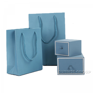High-end Custom Handmade Ring Packaging Jewelry Paper Box with handle