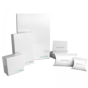 Luxury Clear Paper Pure White Packaging Gift Box with custom logo