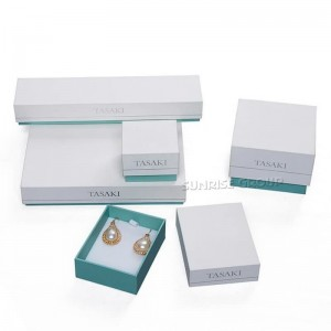 Green Printing Ring Packing Necklace Jewelry Gift Box
