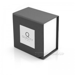 Sunrise Grey Color 1000g Grey Board Small Jewelry Packaging Box with Logo